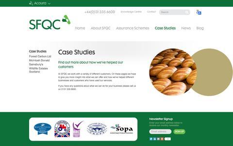 Screenshot of Case Studies Page sfqc.co.uk - Case Studies  | SFQC - captured Sept. 30, 2014