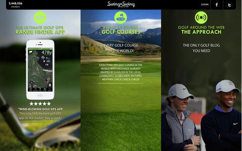 Screenshot of Home Page swingbyswing.com - Swing by Swing | Free Golf GPS Range Finder and Scorecard - captured Sept. 17, 2014