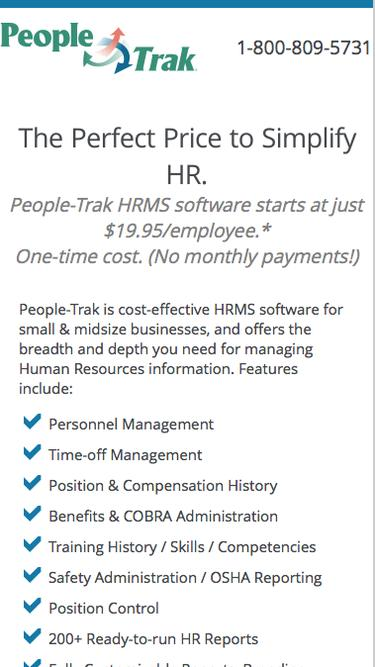 Simplify HR for the Perfect Price | People-Trak HR Software
