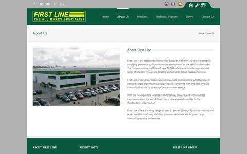 Screenshot of About Page firstline.co.uk - First Line   –  About Us - captured Feb. 10, 2016