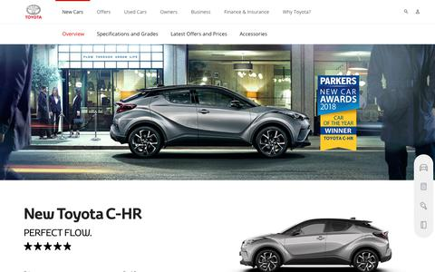 Toyota C-HR | Overview & Features | Toyota UK