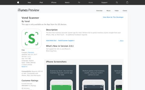 Vend Scanner on the App Store