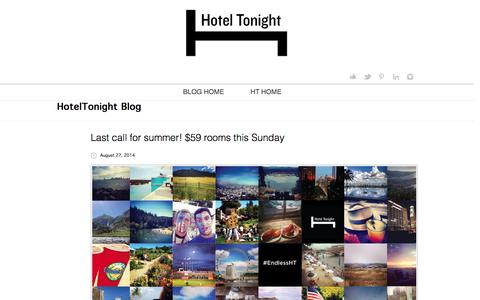 Screenshot of Blog hoteltonight.com - HotelTonight Blog | Book a hotel room tonight - captured Sept. 16, 2014