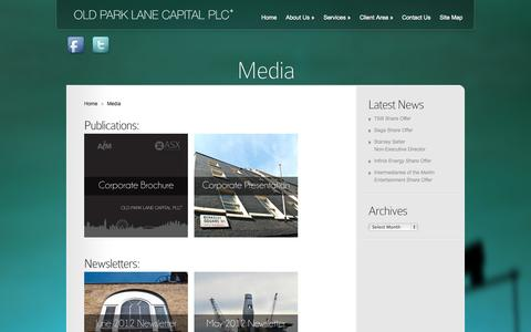 Screenshot of Press Page oldplc.com - Old Park Lane Capital Plc Media | Old Park Lane Capital Plc - captured Nov. 5, 2014