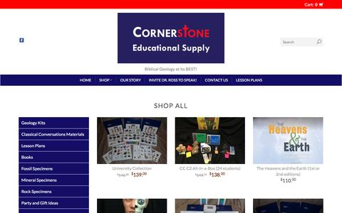 Screenshot of Products Page cornerstone-edsupply.com - Products | Cornerstone Educational Supply - captured May 7, 2017