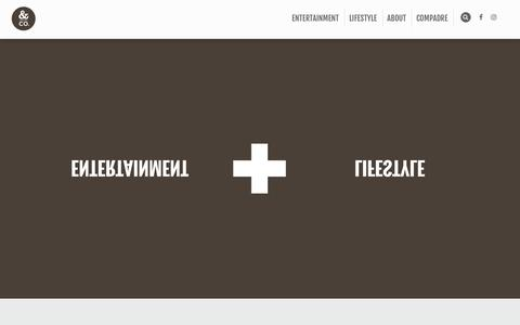 Screenshot of Home Page andcompany.com - and company – Creative Agency - captured May 30, 2017