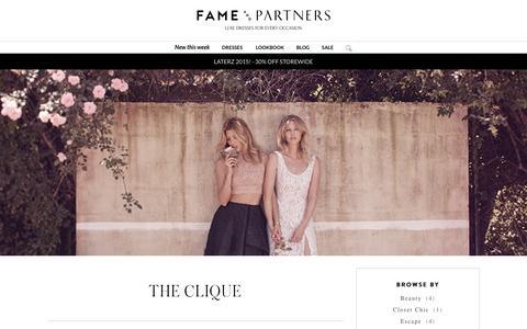 Screenshot of Blog fameandpartners.com - The Clique -The Clique - captured Feb. 9, 2016