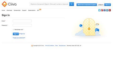 Screenshot of Team Page ciiva.com - Sign In - captured Oct. 28, 2014