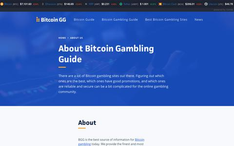 Screenshot of About Page bitcoingg.com - About Us - Bitcoin Gambling Guide - captured Nov. 22, 2019