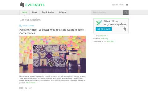 Screenshot of Blog evernote.com - Evernote Blog - Remember Everything. - captured June 1, 2017