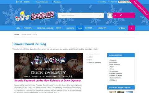 Screenshot of Blog snowie.com - Shaved Ice Blog | News and Updates Snowie.com - captured Jan. 24, 2016