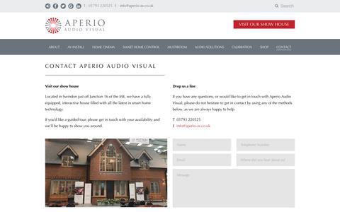 Screenshot of Contact Page aperio-av.co.uk - Contact Aperio Audio Visual - captured Nov. 21, 2016