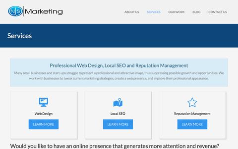 Screenshot of Services Page njsmarketingjax.com - Jacksonville FL Web Design | Jacksonville Local SEO - captured Oct. 23, 2017