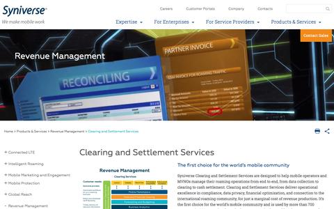 Clearing and Settlement Services  |  Data Clearing  |  Forecasting and Budgeting