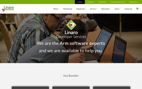 Screenshot of Services Page linaro.org - Linaro Developer Services - Linaro - captured Dec. 8, 2018