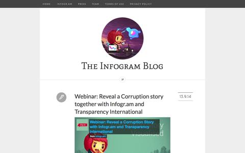 Screenshot of Blog infogr.am - The Infogram Blog - captured Sept. 16, 2014