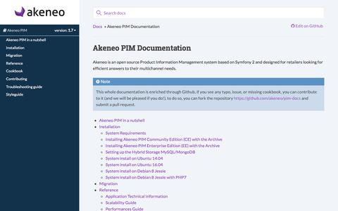 Akeneo PIM Documentation — Akeneo PIM documentation