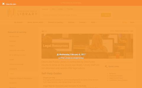 Screenshot of Terms Page deschuteslibrary.org - Legal - Deschutes Public Library - captured Feb. 8, 2017
