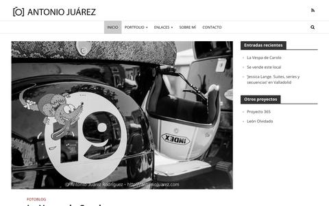 Screenshot of Home Page antoniojuarez.com - Fotografía analógica revelado blanco y negro | Antonio Juárez - captured April 27, 2018