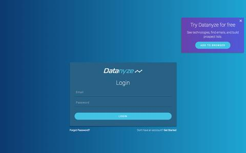 Datanyze | Customer Login