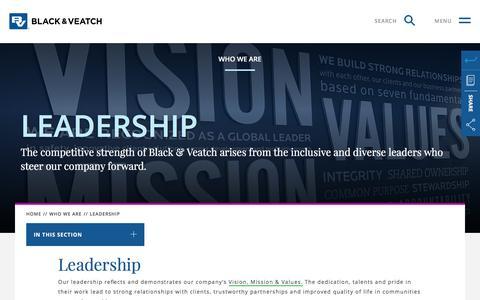Screenshot of Team Page bv.com - Leadership   Black & Veatch - captured June 26, 2017