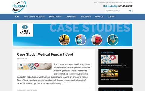 Screenshot of Case Studies Page huesonwire.com - Case Studies - Hueson Corporation - captured Dec. 16, 2018