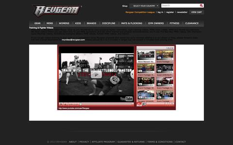 Screenshot of Press Page revgear.com - MMA Videos, MMA Fighter Interviews, Fight Training videos, MMA News videos, MMA Gear Videos - captured Sept. 24, 2014