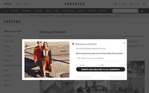 Screenshot of Jobs Page farfetch.com - farfetch.com - a new way to shop for fashion - captured Dec. 12, 2017