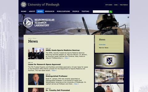 Screenshot of Press Page pitt.edu - News | NMRL | University of Pittsburgh - captured Oct. 26, 2014