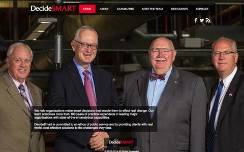 Screenshot of Home Page decidesmart.com - Decide Smart - captured Oct. 2, 2014