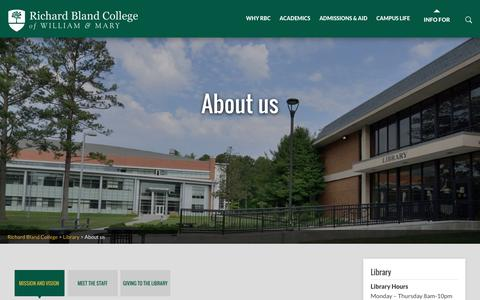 Screenshot of About Page rbc.edu - About us | Richard Bland College - captured Dec. 6, 2016
