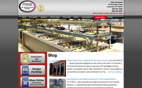 Screenshot of Blog dinecompany.com - Dine Company | Restaurant Equipment and Supplies | Louisville, KY - captured Oct. 5, 2014