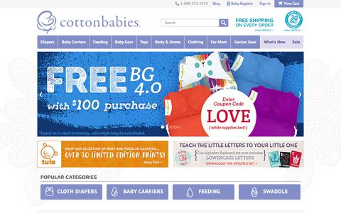 Cloth Diapers, Diaper Covers, bumGenius, Chinese Prefolds, Baby Carriers and more at Cotton Babies - Top Ranked Cloth Diaper Store‎