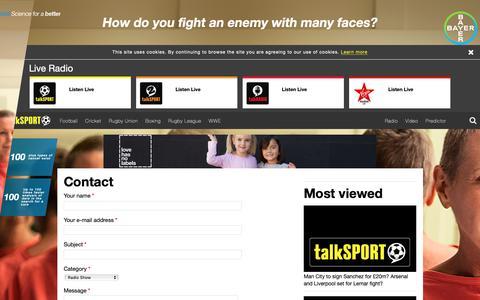 Screenshot of Contact Page footballexclusives.co.uk - Contact | talkSPORT - captured Nov. 6, 2018