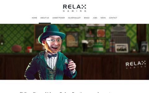Screenshot of About Page relax-gaming.com - About us - Relax Gaming Ltd. - captured Dec. 2, 2016