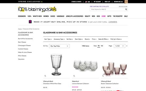 Stemware, Glassware and Barware - Bloomingdale's