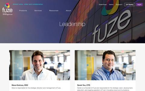 Screenshot of Team Page fuze.com - Leadership | Fuze - captured Feb. 9, 2016