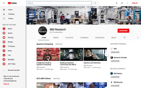 IBM Research - YouTube - YouTube