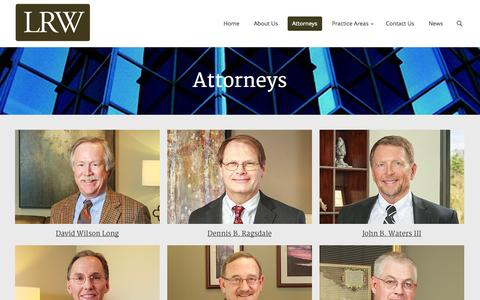 Screenshot of Team Page lrwlaw.com - Long, Ragsdale and Waters |   Attorneys - captured Nov. 2, 2014