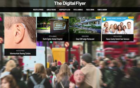 Screenshot of Home Page thedigitalflyer.com - The Digital Flyer @ The Digital Flyer - captured Feb. 28, 2016
