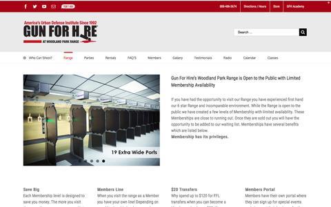 Screenshot of Pricing Page gunforhire.com - Range Membership   Gun For Hire - captured Nov. 16, 2016