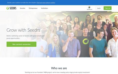 Screenshot of Jobs Page seedrs.com - Seedrs | Careers - captured July 18, 2019