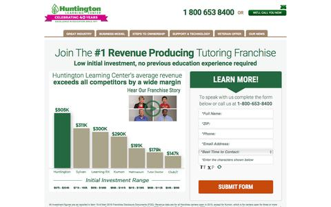 Top Tutoring & Test Prep Business Franchise | Huntington Learning Center