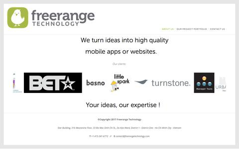 Screenshot of About Page freerangetechnology.com - About Us — Free Range Technology - captured June 6, 2017