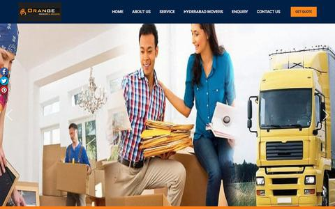 Screenshot of Home Page orangepackersmovers.com - Packers and Movers Pune | Movers and Packers Pune - Orange - captured Oct. 14, 2019