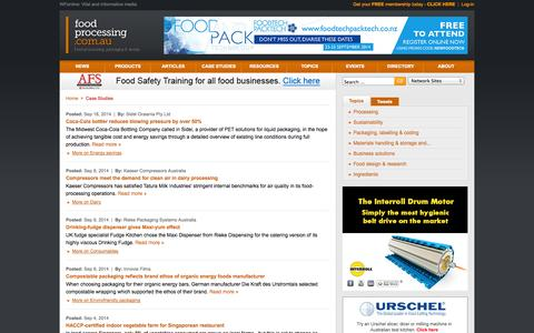 Screenshot of Case Studies Page foodprocessing.com.au - Case Studies :: FoodProcessing - captured Sept. 30, 2014
