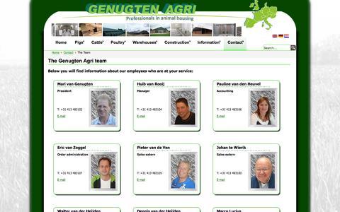 Screenshot of Team Page genugten-agri.nl - The team | Genugten Agri - captured Jan. 27, 2016