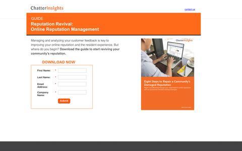 Screenshot of Landing Page binaryfountain.com - Reputation Revival: Online Reputation Management - captured June 18, 2017