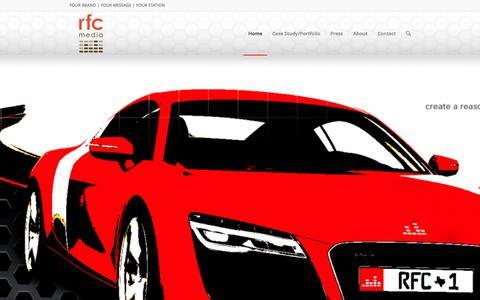 Screenshot of Home Page rfcmedia.com - rfc media | brand driven radio - captured Sept. 5, 2015