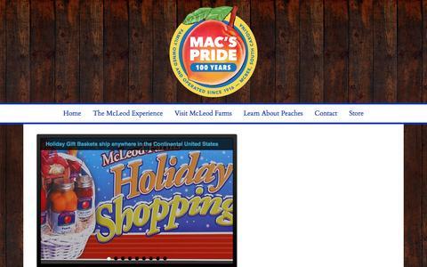 Screenshot of Home Page macspride.com - McLeod Farms – Mac's Pride - McBee, South Carolina - captured Nov. 28, 2016